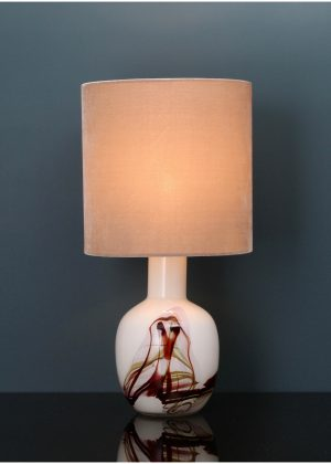 Holmegaard glass table lamp