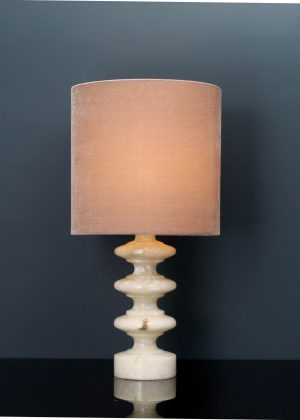 Marble table lamp curved
